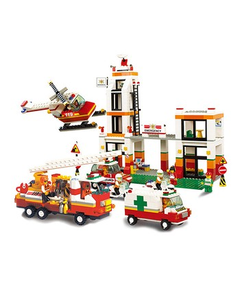 Firefighter Headquarters Block Set