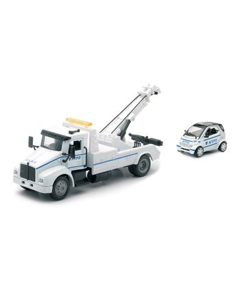 NYPD Tow Truck & Smart Car Set