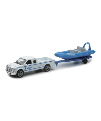 NYPD Pick-Up Truck & Boat Set