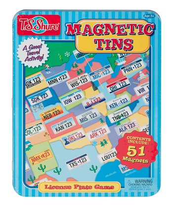 License Plate Magnet Play Set