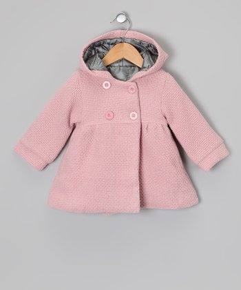 Pink Hooded Swing Coat - Infant & Toddler