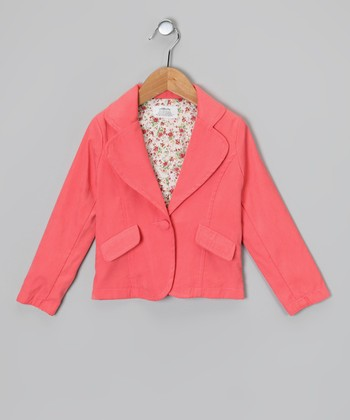 Pink Floral Blazer - Toddler & Girls