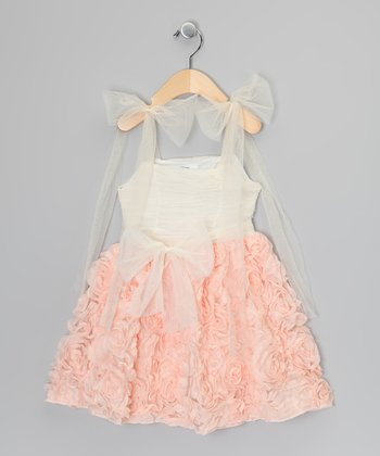 Peach Petal Dress - Infant, Toddler & Girls