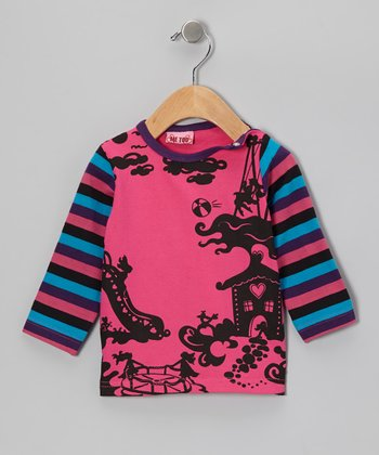 Fuchsia & Purple Bello House Tee - Toddler