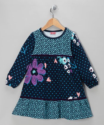 Dress Blues Caroline Bam Dress - Girls