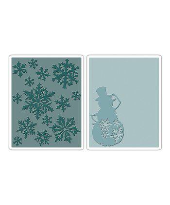 Snow Flurries & Snowman Texture Fades Embossing Set