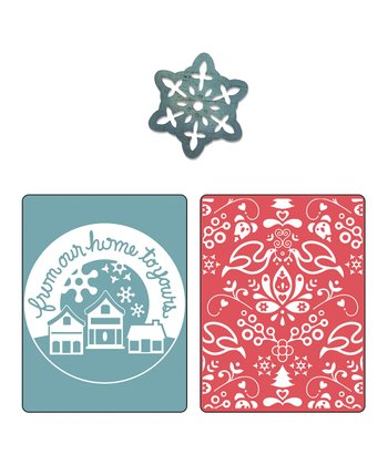 From Our Home & Yule Embossing Folder & Sizzlits Die Set