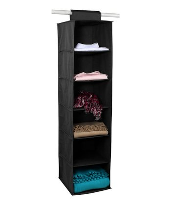 Black Six-Shelf Closet Organizer