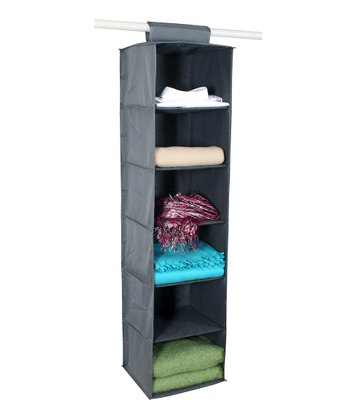 Gray Six-Shelf Closet Organizer