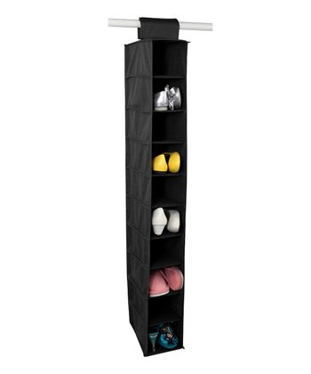 Black 10-Shelf Closet Organizer