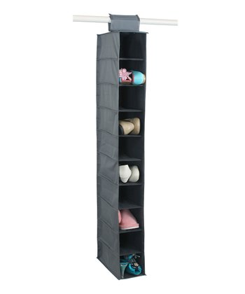 Gray 10-Shelf Closet Organizer