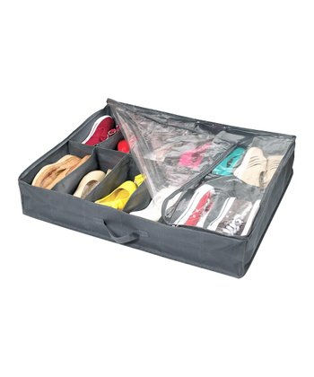 Gray Under-Bed Shoe Organizer