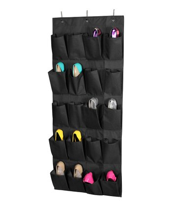 Black 20-Pair Hanging Shoe Organizer