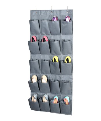 Gray 20-Pair Hanging Shoe Organizer