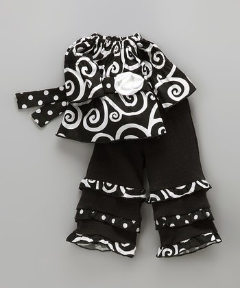 Black Swirl Sammy Doll Outfit