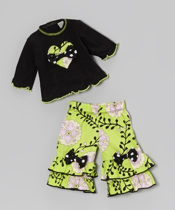 Black & Lime Nora Doll Outfit