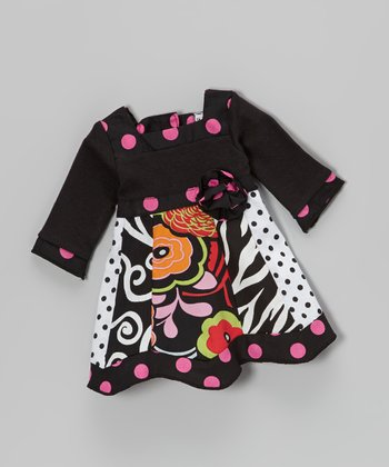 Black & Pink Polka Dot Rizzo Doll Dress