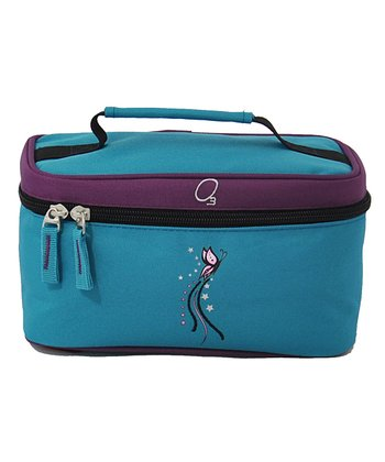 Turquoise Butterfly Accessory & Toiletry Bag