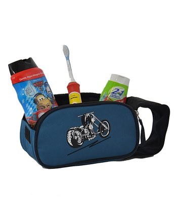 Blue Motorcycle Accessory & Toiletry Bag