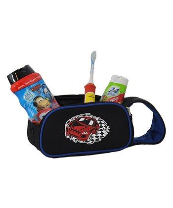 Black Racecar Accessory & Toiletry Bag