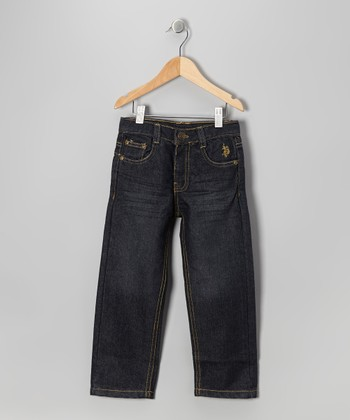 Blue Wash Straight-Leg Jeans - Toddler