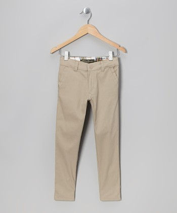 Khaki Chino Pants - Girls