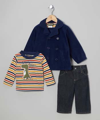 Navy Peacoat Set - Infant