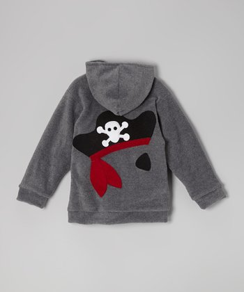 Charcoal Pirate Fleece Zip-Up Hoodie - Infant, Toddler & Boys
