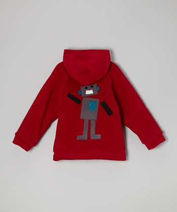 Red Robot Fleece Zip-Up Hoodie - Infant & Toddler