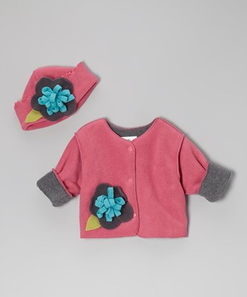 Peony Fleece Jacket & Hat - Infant & Toddler
