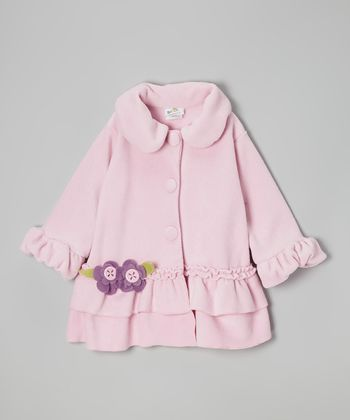 Pink Sweet Pea Ruffle Coat - Infant, Toddler & Girls