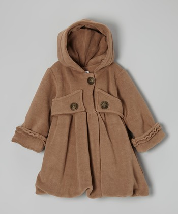 Cappuccino Mary Jayne Hooded Coat - Infant, Toddler & Girls
