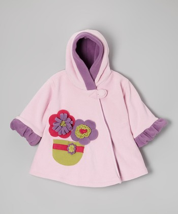 Baby Pink Wrap Swing Coat - Toddler & Girls