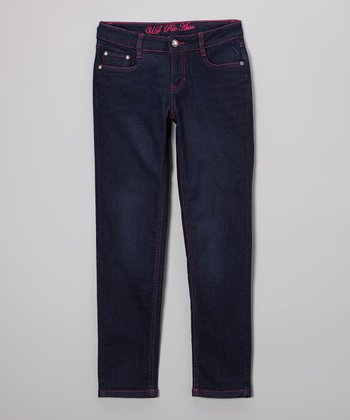 Medium-Wash Skinny Jeans - Girls