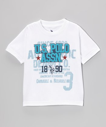 White 'Durable & Reliable' Tee - Boys