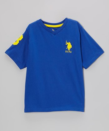 Royal Blue 'USPA' V-Neck Tee - Toddler & Boys