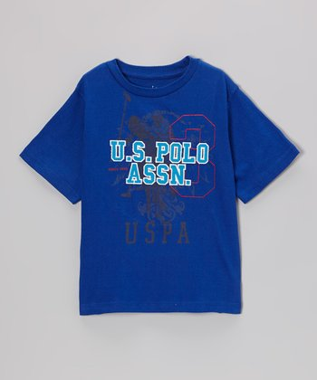 Royal Blue 'U.S. Polo' Tee - Boys