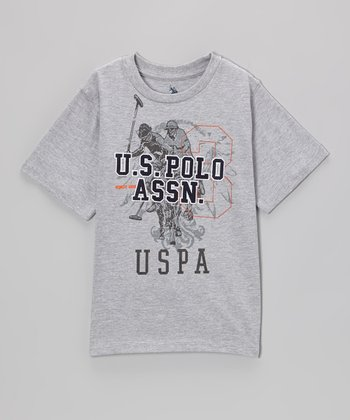 Gray 'U.S. Polo' Tee - Boys
