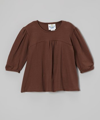 Brown Tunic - Infant, Toddler & Girls