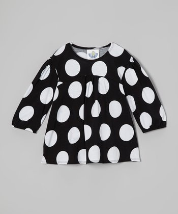 Black & White Polka Dot Tunic - Infant, Toddler & Girls