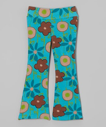 Turquoise Garden Flare Pants - Infant, Toddler & Girls