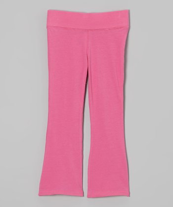 Bright Pink Flare Pants - Infant, Toddler & Girls