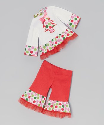 Red Polka Dot Tree Doll Outfit