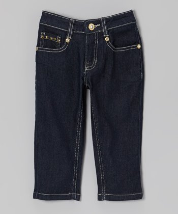 Dark Denim Capri Pants - Toddler & Girls
