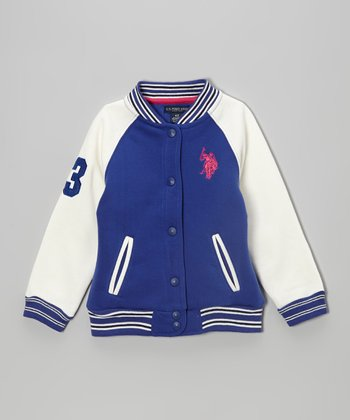 International Blue Varsity Jacket - Toddler & Girls