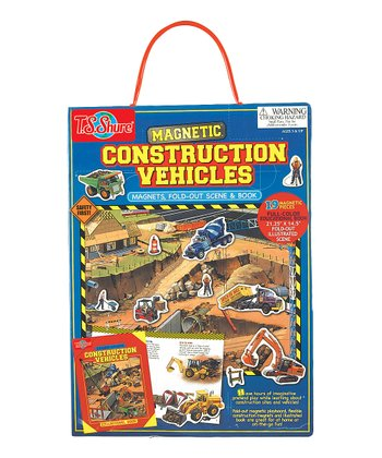 Construction Vehicles Magnet Play Set