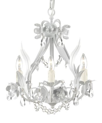White Floral Crystal Chandelier