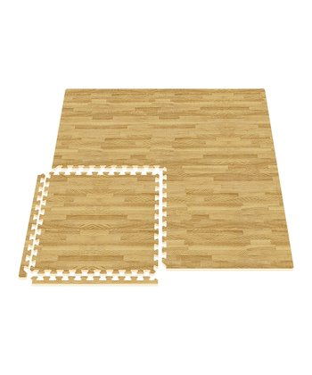 Light Oak Comfort Mat - Set of Eight