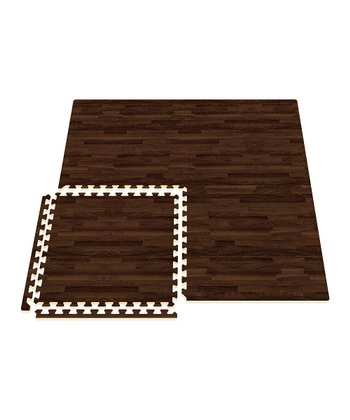 Walnut Comfort Mat - Set of Eight