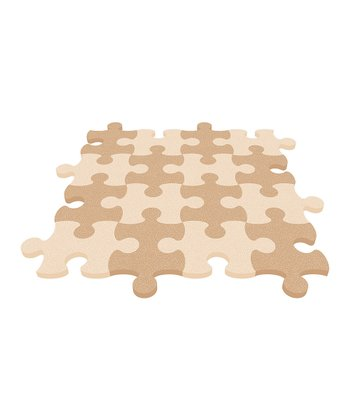 Beige Puzzle Mat - Set of Eight